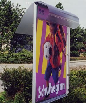 Plakatständer mit Wechselrahmen Detailbild